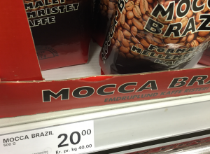 Supermarkedskaffe20kr