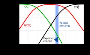Bjerrumplot CO2 og HCO3 i vand
